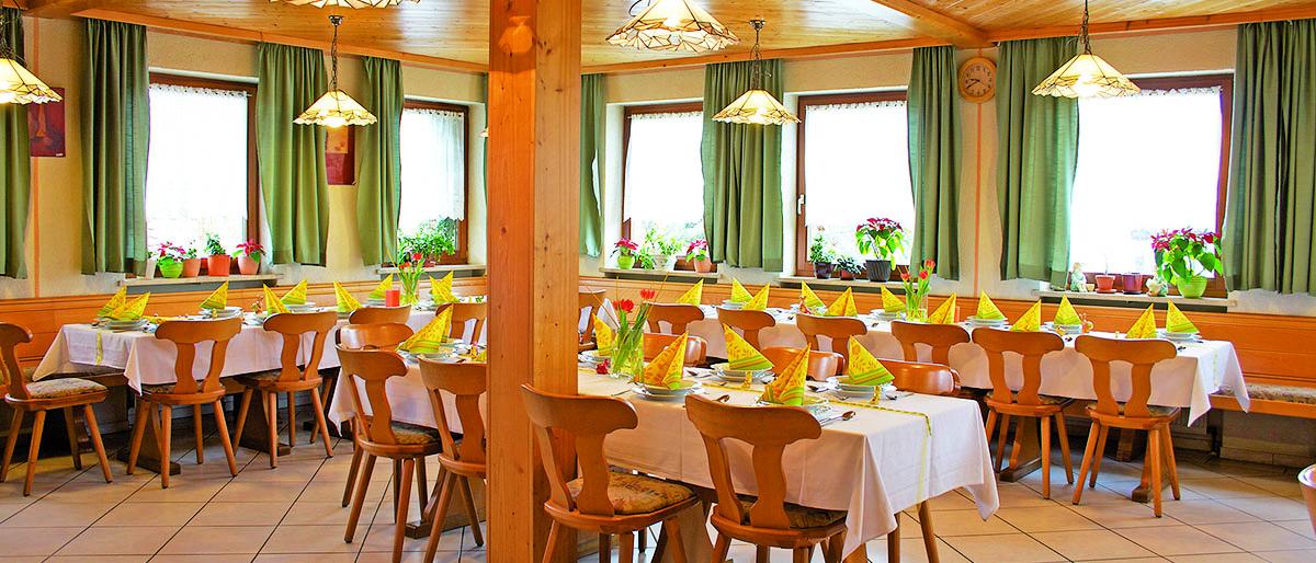 Festsaal des Gasthaus Steigerwaldhöhe