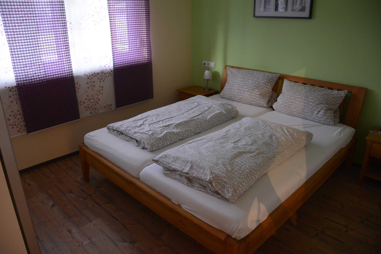 Gästeschlafzimmer in der Pension Steigerwaldhöhe