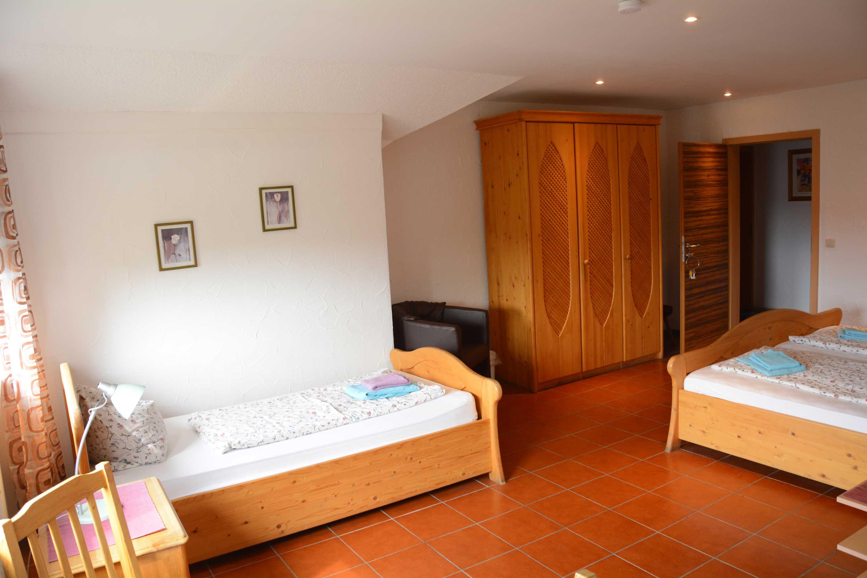 Mehrbettzimmer in der Pension Steigerwaldhöhe